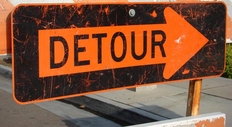 road work detour