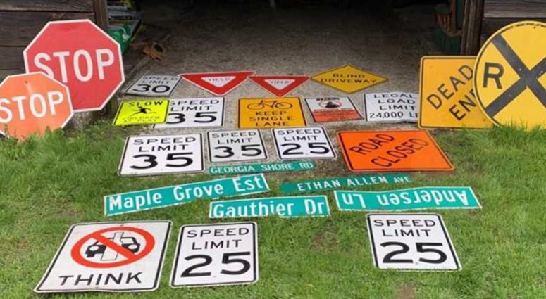 stolen street signs
