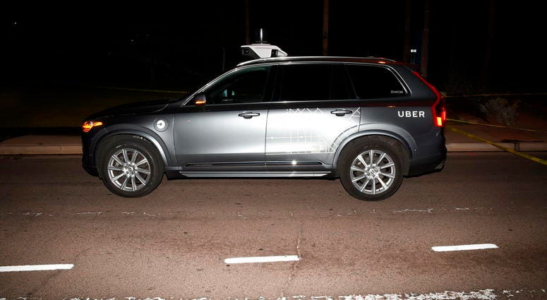 Uber self driving SUV