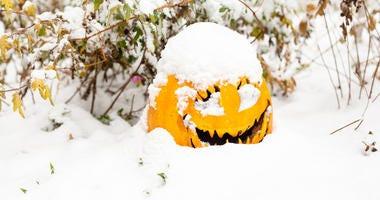 Halloween snow