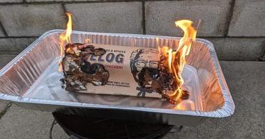 KFC Firelog Burning