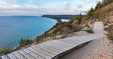 Lake Michigan Overlook at Sleeping Bear Dunes