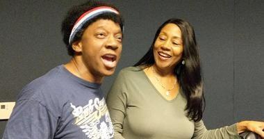 Phil Elam, left, joins Terri Lee in the WWJ Newsradio 950 studios
