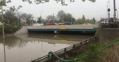Southfield Fwy flooding