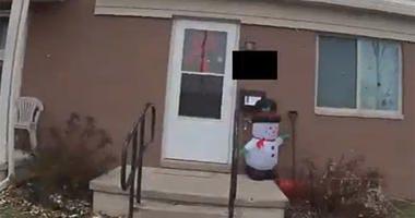 Stolen inflatable snowman