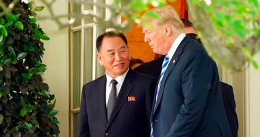 Trump with Kim Yong Chol