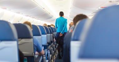 airplane aisle