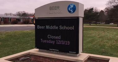 beer middle school closed