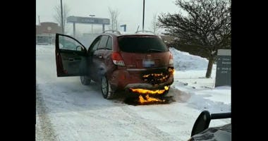 driving on fire