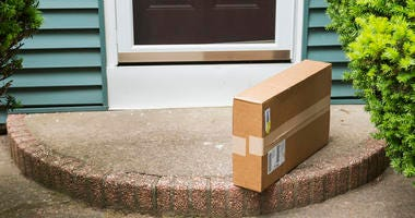 package on porch
