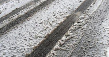 snow slush roads tire tracks