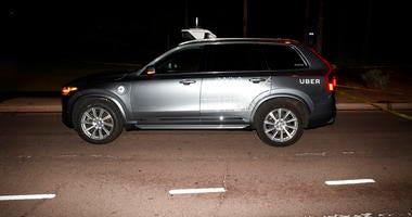 Uber self driving SUV