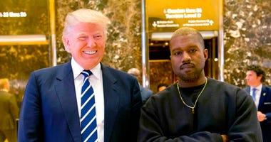 Trump and Kanye - AP