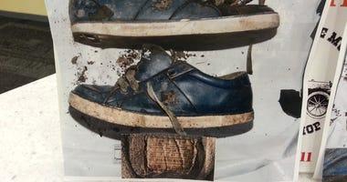 murder victim's shoes