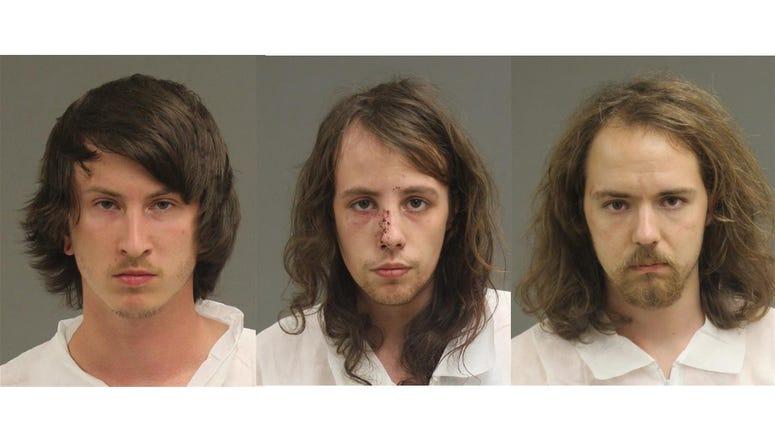 The three suspects, Nathan Domagalski, Christopher Twarowski and Christopher Zehnpfenning