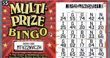 winning scratch off lottery ticket