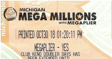 winning ticket $2M lottery ticket