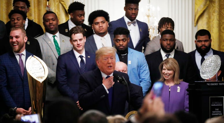 President Trump, LSU Tigers