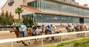 107th Louisiana Derby witnessed by no spectators at Fair Grounds