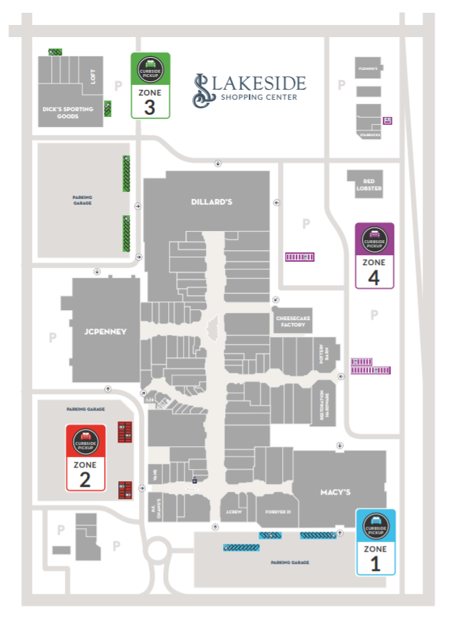 lakeside mall new orleans map Lakeside Mall Offers Curbside Pickup For Online Shoppers Wwl lakeside mall new orleans map