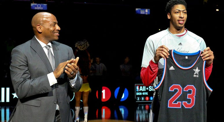 Dell Demps with Anthony Davis