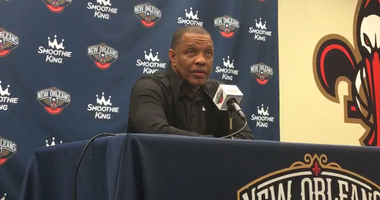 Alvin Gentry at the Pelicans season ending press conference