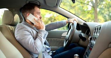 Using a cell phone while driving