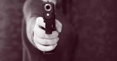 Armed robber gets taste of own medicine