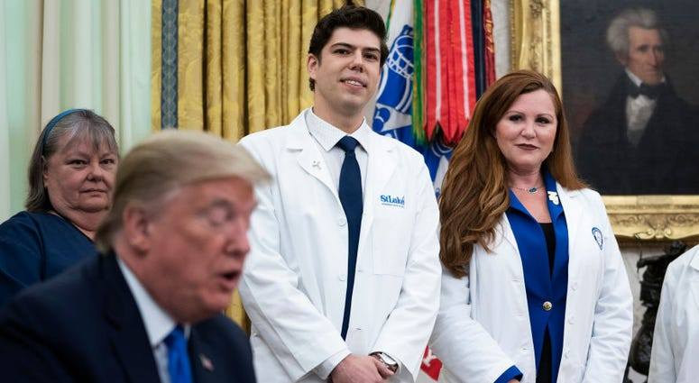 President Trump with Sophia Thomas