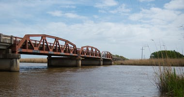 The Old Pony Truss Bridge Over the Pearl River in St. Tammany Parish