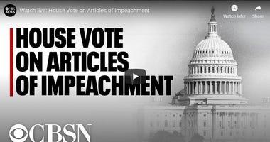 House to vote on impeaching President Trump