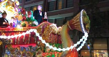 Actor Bryan Cranston rides in Orpheus