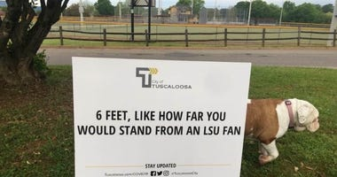 The City of Tuscaloosa uses the LSU-Bama rivalry used to encourage social distancing