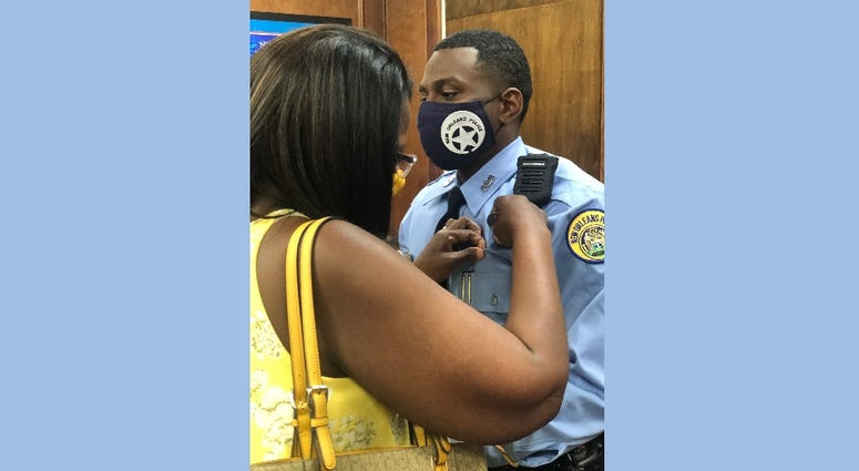 New NOPD Officer hits the streets wearing late fathers badge
