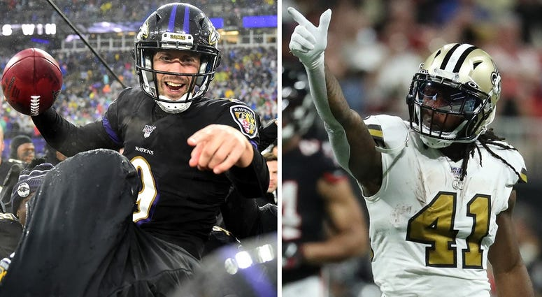 Baltimore Ravens and New Orleans Saints