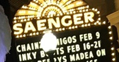 Saenger Theater sign