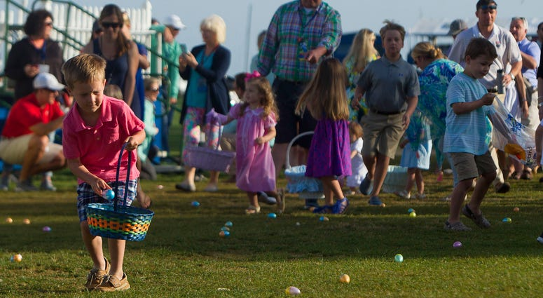 Area governments are encouraging social distancing Easter Egg hunts.
