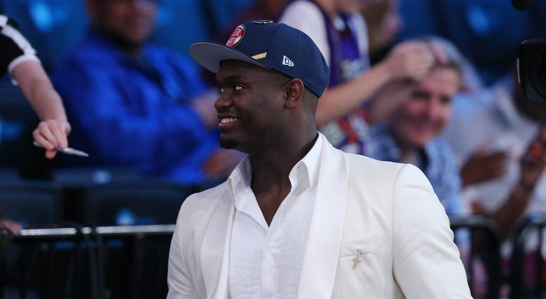 Zion Williamson at the NBA Draft