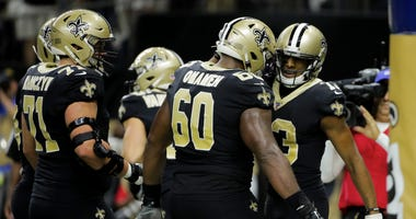 Saints offensive linemen Ryan Ramczyk and Patrick Omameh