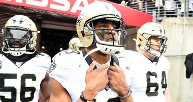 New Orleans Saints wide receiver Michael Thomas (13) before the game against the Tennessee Titans at Nissan Stadium.