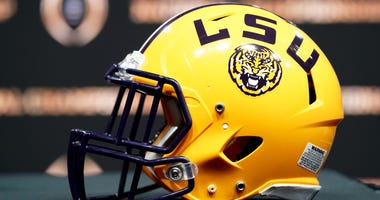 LSU football helmet