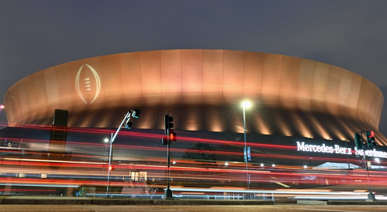 Superdome before the national championship