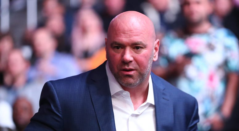 UFC president Dana White in attendance during UFC 246 at T-Mobile Arena.