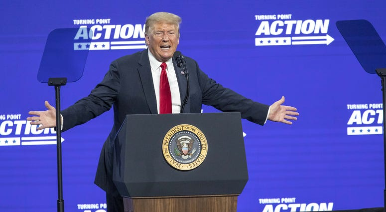 President Trump at a rally