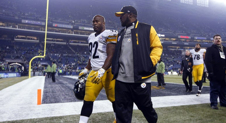 James Harrison and Mike Tomlin