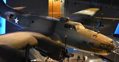 Jan 12, 2020; New Orleans, Louisiana, USA; General overall view of airplanes on display at the the National World War II Museum.