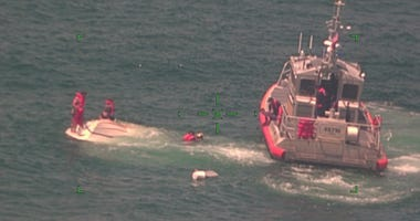 Sinking boat in deep water off Venice brings helicopter, response boat