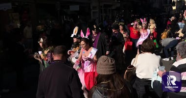Krewe of Cork rolls in the French Quarter