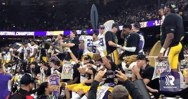 LSU celebrates national championship win against Clemson