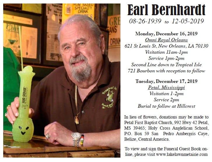 Earl Berhardt Obit